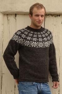 Herresweater i Létt Lopi