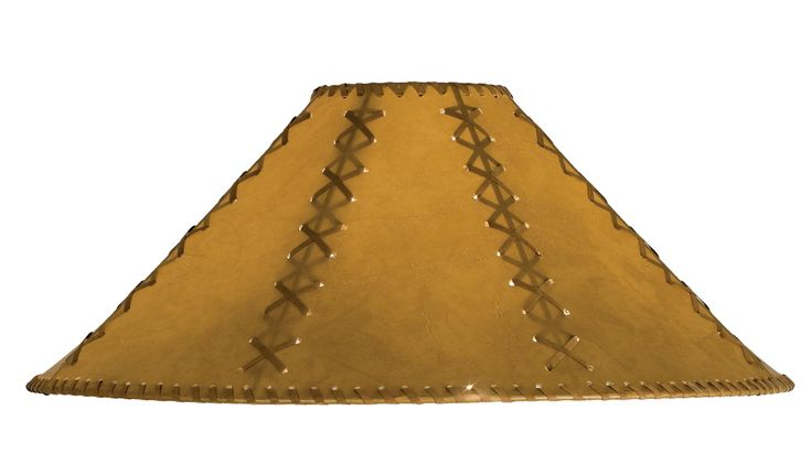 22 Inch W X 12 Inch H Faux Leather Tan Hexagon Shade