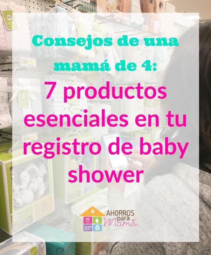 Hay muchas cosas que los sitios de productos de bebé recomiendan que añadas a tu registro de regalos de baby shower pero no todo es necesario. Aquí te dejo una lista de las 10 cosas que siempre he comprado para mis hijos y que me hubiera encantado añadir en la lista de regalos de baby shower para mi primera bebé. #ad