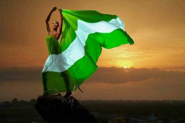 Happy Independence Day Nigeria! Always proud to raise the flag! (Image from 9jagirl4real)