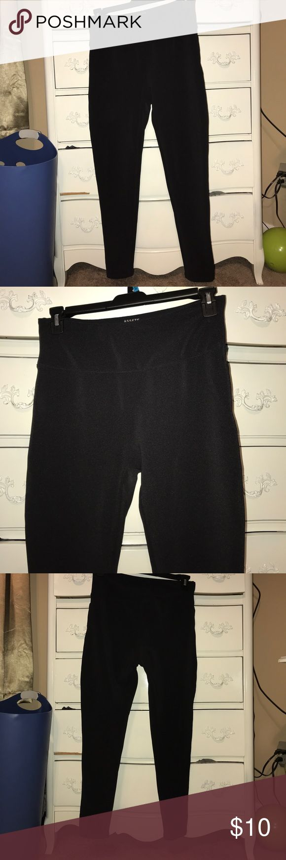 black leggings worn twice. like brand new. prefect condition. heavy duty spanx material. Assets By Spanx Other