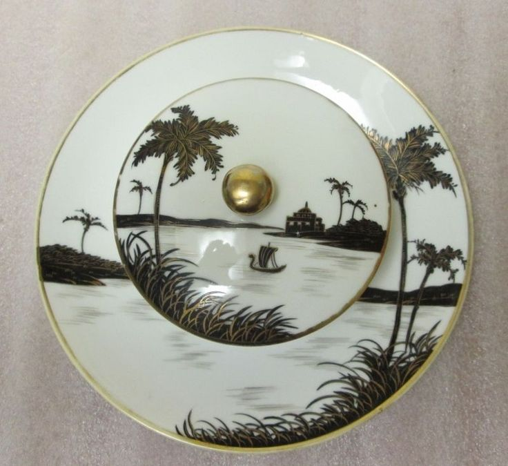 The 31 best nippon black white images on pinterest cutlery antique noritake nippon hand painted black white gold gilt sauce bowl for sale fandeluxe Image collections