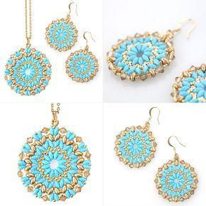 DIY Mandala necklace and earrings set tutorial