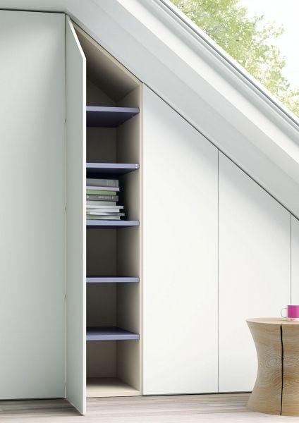 detalle de armario adaptándose a las formas de tu espacio