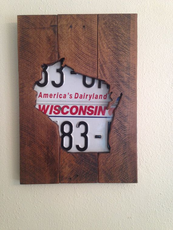 Hey, I found this really awesome Etsy listing at https://www.etsy.com/listing/250196819/wood-wisconsin-art-wisconsin-license