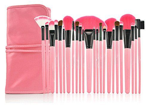 LyDia 24pcs Hot Pink Face Powder/Foundation/Concealer/Eyeshadow/Blending/Eyeliner/Lip Makeup Cosmetic Brush Set with Pink Case by LyDia Marca: LyDia Modelo: 24pcs Pink EAN13: 5055488298321 Categorí…