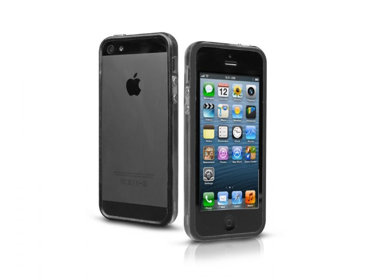 Bumper case in transparent PVC for iPhone 5, black color.   http://www.sbsmobile.com/iphone/protections_specific-cases/1882_bumpy-case-for-iphone-5_TEBUMPTRIP5K.html