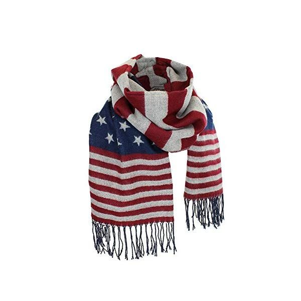 Women S Winter American Flag Fringed Shawl Red White And Blue Pashmina Wrap Buy Scarves And Wraps Pashmina Wrap Winter Women Fringe Shawl