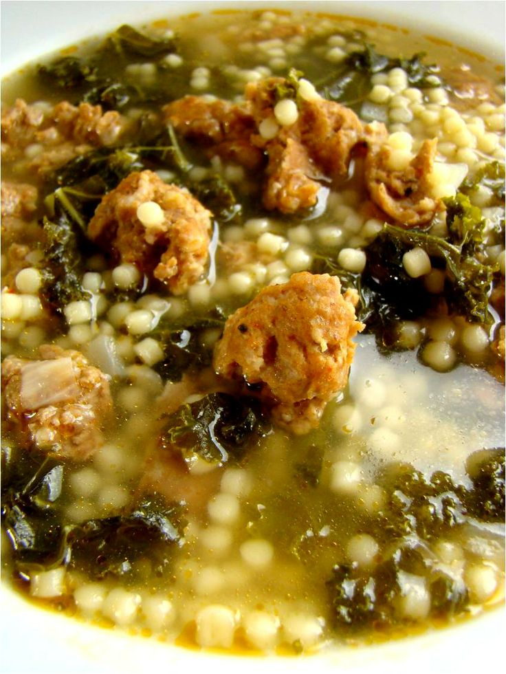 sausage & kale soup - any sausage you like White Beans, Turkey Sausage ...