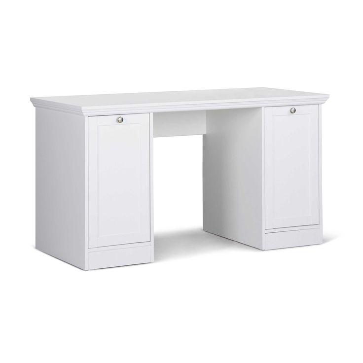 Schreibtisch Landwood Weiß Kunststoff