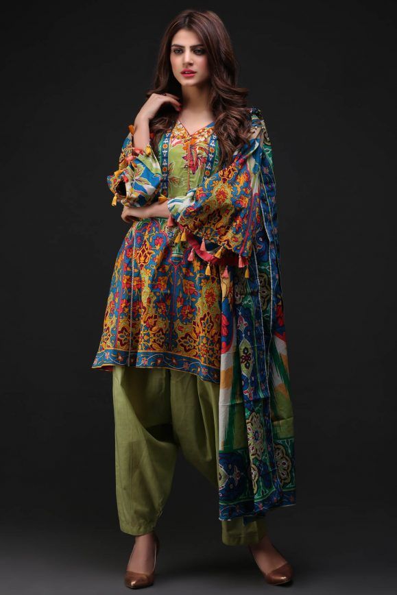 36caf6e915 Warda Latest Summer Dresses Printed   Embroidered Collection 2019 ...