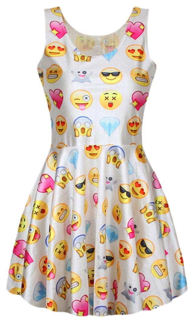 """Emoji Dress"" by kdriskill ❤ liked on Polyvore featuring beauty"