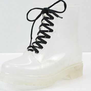 HEE GRAND 2016 New Women Rainboots Transparent Waterproof Boot Colorful Autumn Rubber Shoes Rainboot Woman Ankle Boots XWX195