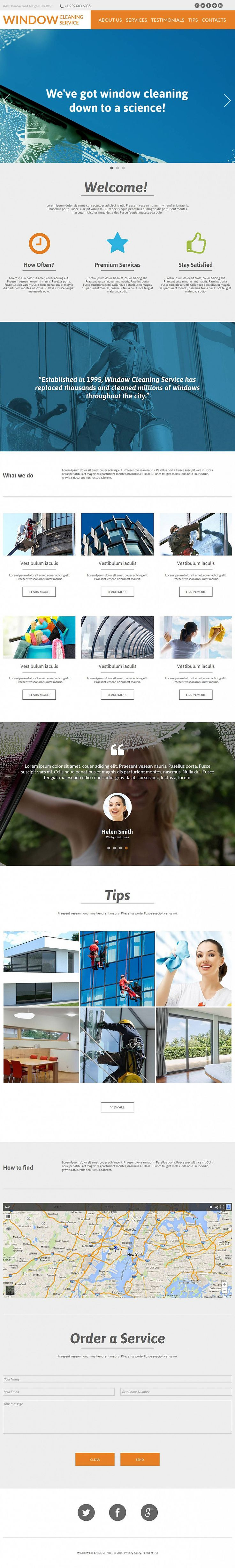 The 7 best single page website design images on pinterest design exclusive one page website theme for window cleaning business if you wajeb Choice Image