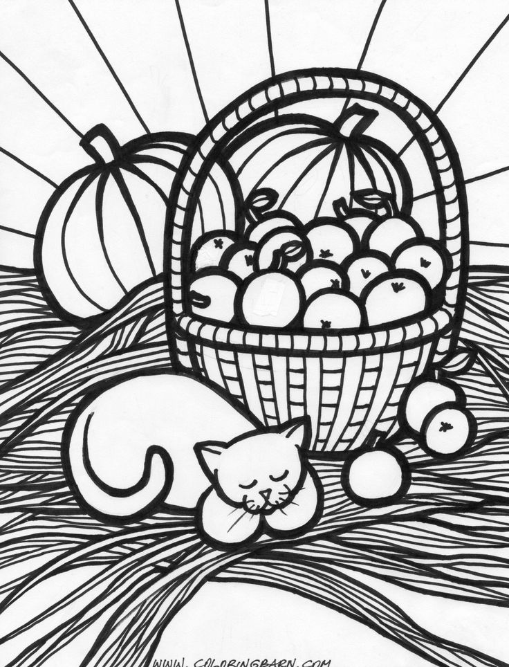 Autumn Coloring Pages Fall harvest