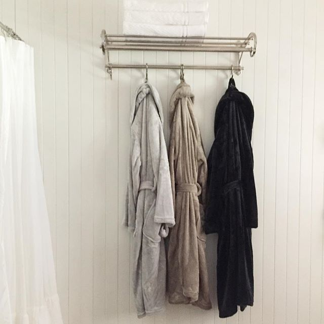 Sunday morning, what to wear?   The #brogo #robe is super soft for easy Sundays   Hanging sweetly at our #guesthouse night.
