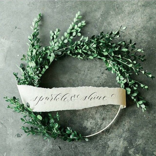 This is simple and perfect, a little greenery in the wreath and a sweet message   christmas inspiration