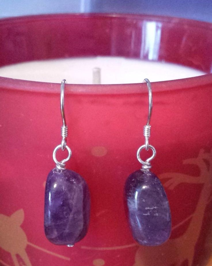 Amethyst Gemstone Drop Earrings - pinned by pin4etsy.com