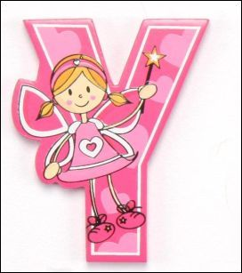 the letter yy letter pink fairy