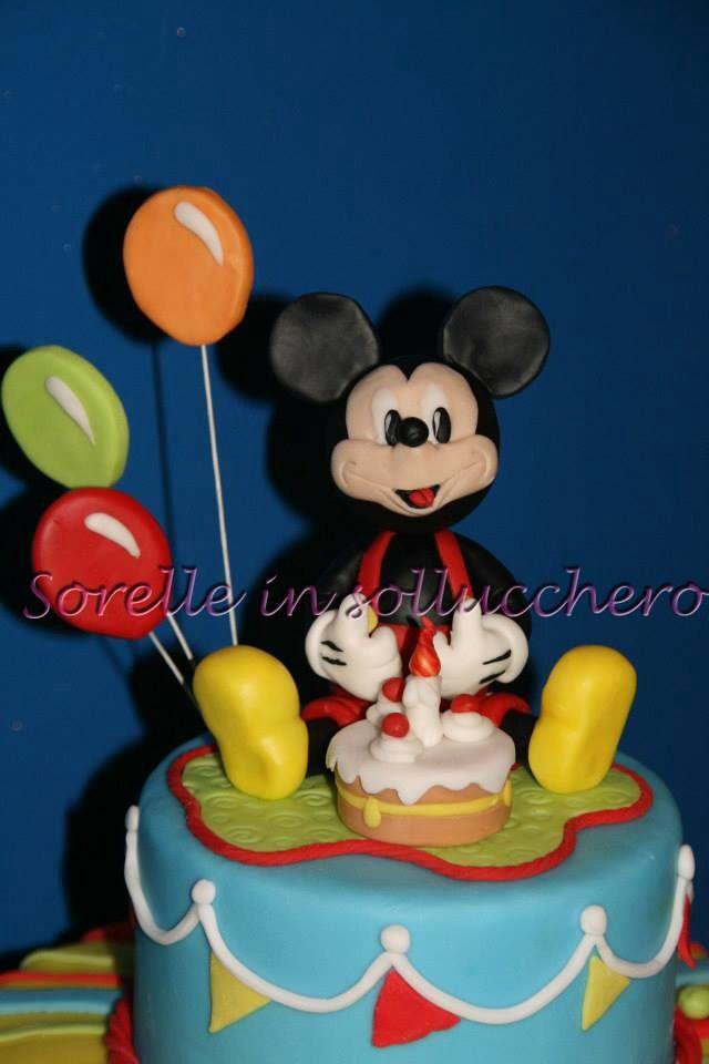 Michey mouse first birthday cake,topolino primo compleanno