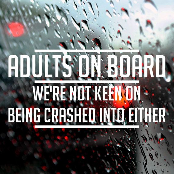 Bumper sticker, Adults on board, Funny car decal, Bumper Stickers for cars and vans, Car stickers, window decal
