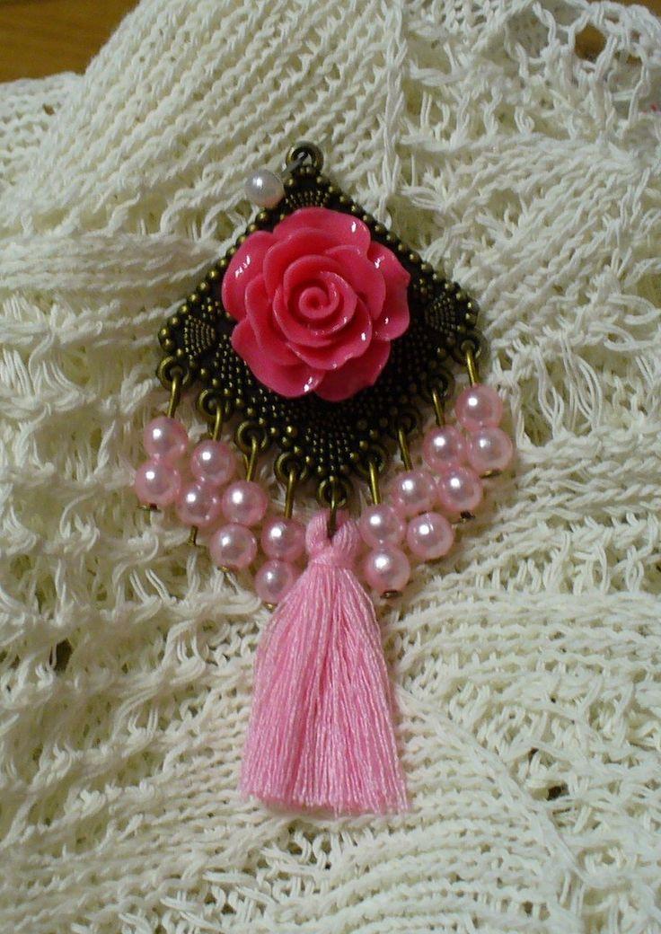 Rózsaszín medál*Pink pendant