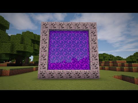 how to make a portal in minecraft youtube