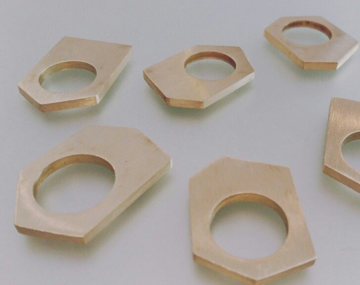 Solid brass multi-angular rings