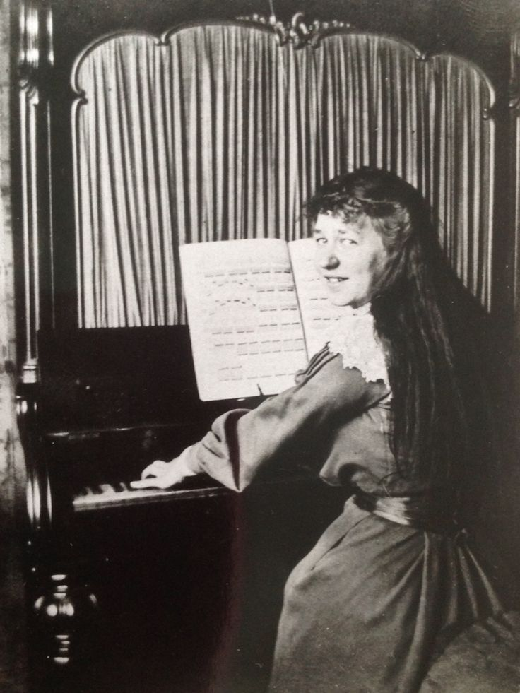 My grandmother studying music at the London Academy of Music, circa 1900