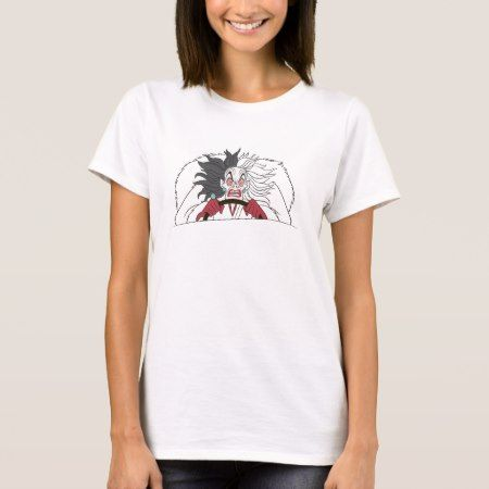 101 Dalmations' Cruella de Vil Angry Disney T-Shirt - click to get yours right now!