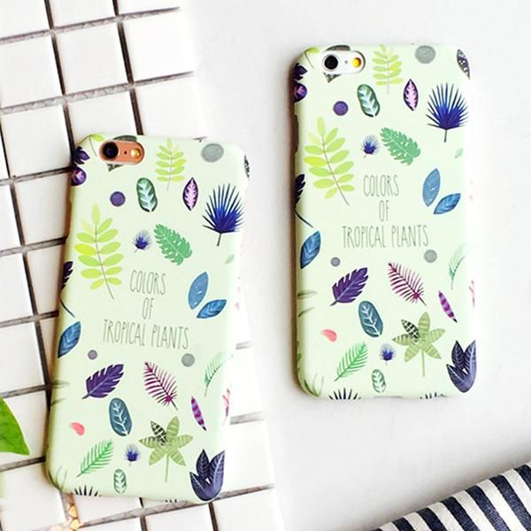 Summer Plants Leaves Case For iphone 5S Case For iphone 5 6 6S Plus Phone Cases Back Cover Funny Cartoon Leaf Hard Capa Fundas