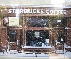 Even in a snow storm, I'll still make my daily Starbucks run! Nothing can keep us apart!