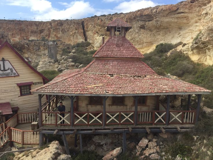 The houses of Popeye's Village