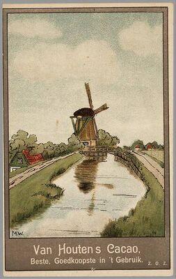 van Houten Nederlandse reclame prent