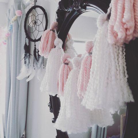 Soft Pink Tassel Garland