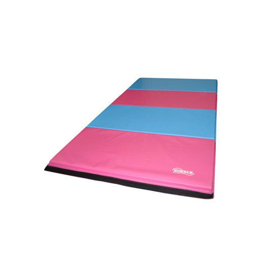 8ft pinklblue gymnastics mat folding gym panel tumble mat 13