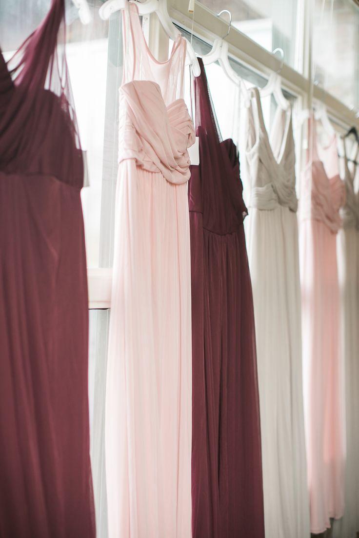 Cozy blush and burgundy