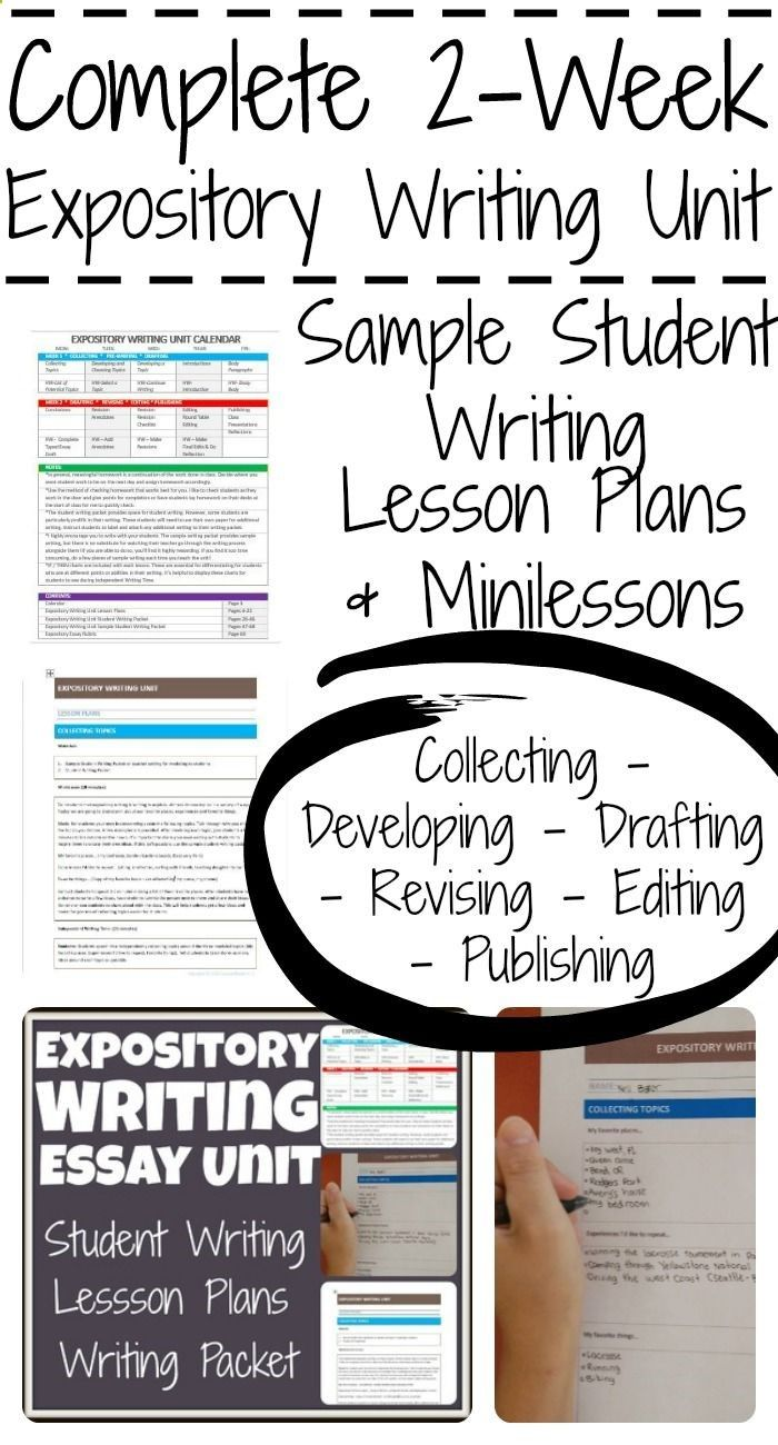 expository essay mini lessons Each kid in the group chose a reason to turn into a paragraph, and they whipped out an expository essay in no time i was so happy with how these lessons went each day my room was loud, but it was the good kind of loud.