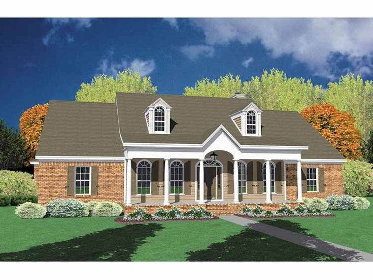 Eplans Neoclassical House Plan Alluring One Story Brick