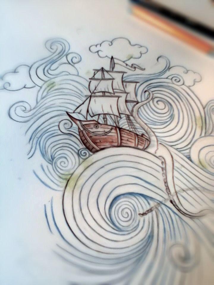 Sketch. Would make an awesome tattoo like a back piece.