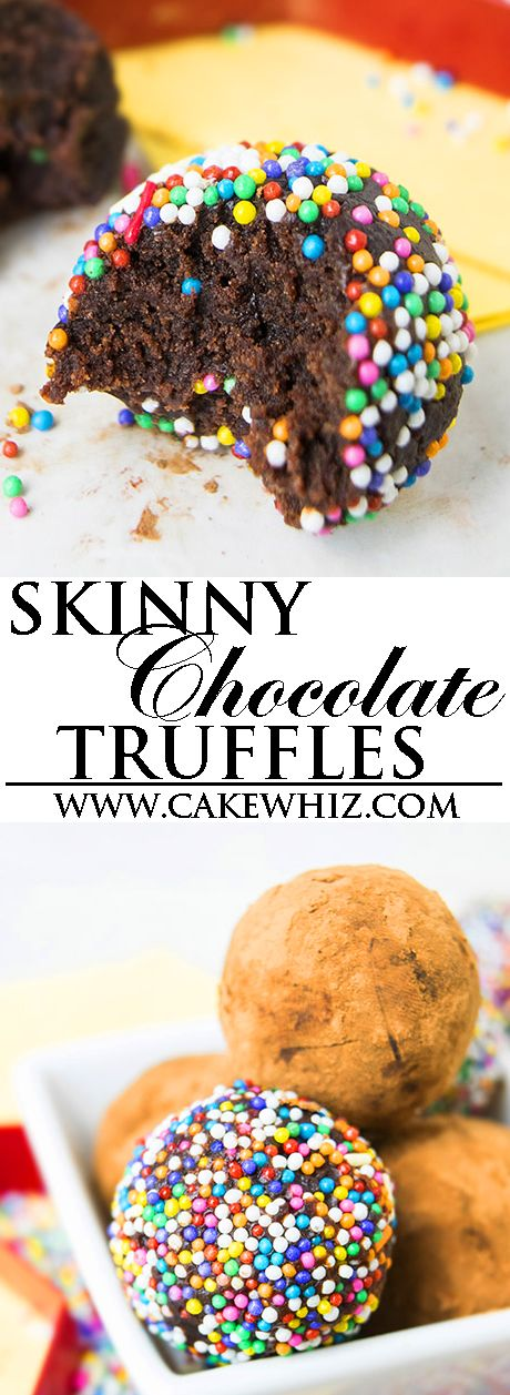 Easy healthy CHOCOLATE TRUFFLES recipe, requiring a few simple ingredients. They are the perfect guilt free dessert or snack. These rich, fudgy and creamy chocolate cherry truffles are a great homemade gift too! {Ad} From cakewhiz.com