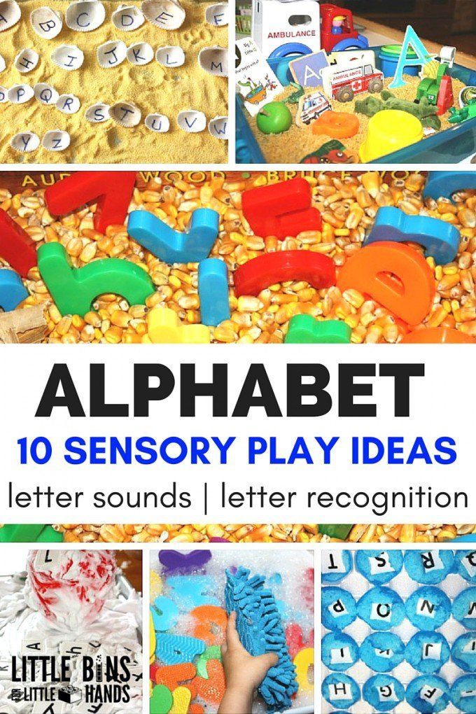 Alphabet Sensory Play for Learning Letters