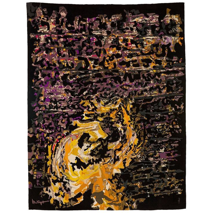 Mathieu Mategot Aubusson Tapestry   From a unique collection of antique and modern tapestries at https://www.1stdibs.com/furniture/wall-decorations/tapestry/