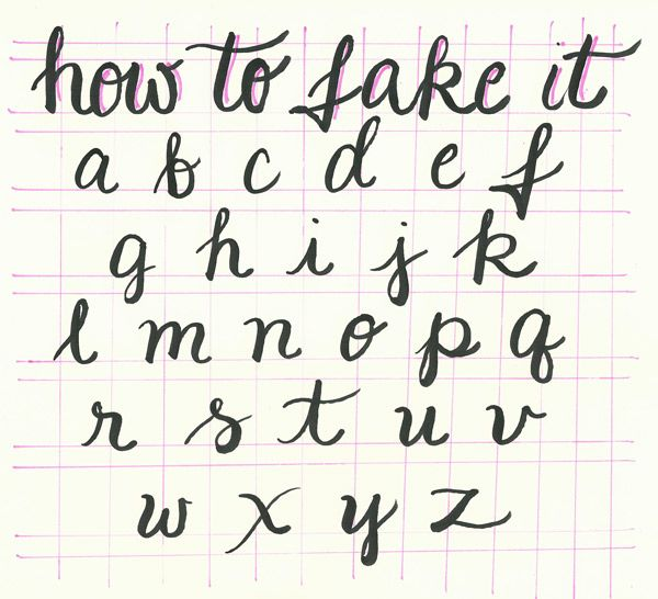 How to Fake Great Handwriting - FREE Printable at BreezyCheetahPop.com