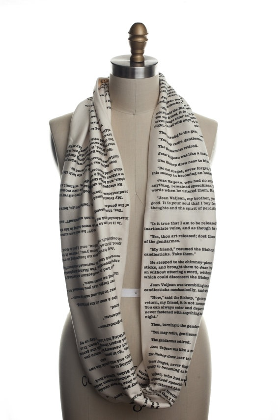 Les Miserables Book Scarf. OH MY GOSH I AM DYINGGGGGGGGGGG!!!!!!!!!!!