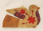 メキシコ・オアハカのブリキ細工・平和のハトのブリキ壁飾り・オーナメント-中南米手作り雑貨「リャマリャマ」