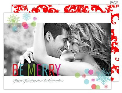 Be Merry Holiday Confetti Photo Cards
