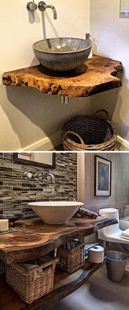 Wood that has natural edge left uncut has become more and more popular in home d…