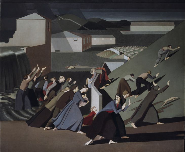 Winifred Knights - The Deluge, 1920 Oil on canvas, 1529 x 1835 mm (60 1/4 x 72 1/4 in.). Tate Gallery