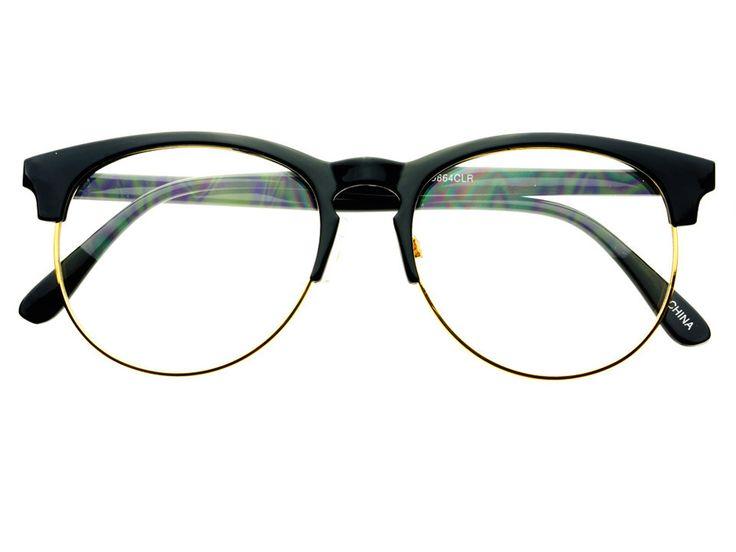 designer fashion pearls clear lens oversized round glasses frames r2100